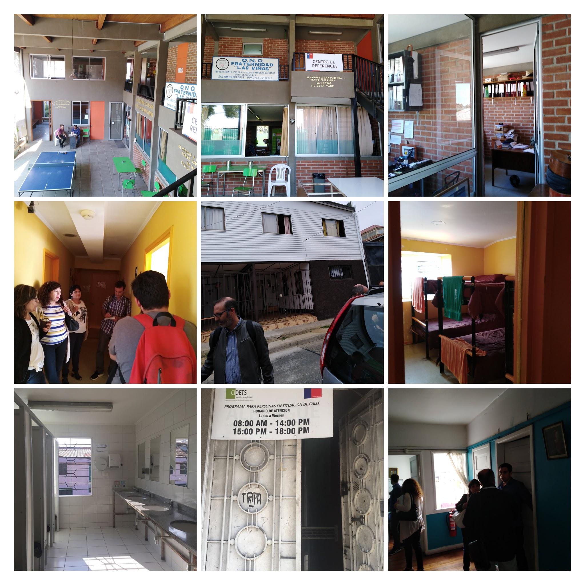"Chile: Recorrida por Centro de Referencia Las Viñas, Casa compartida en Playa Ancha, Hospedería Hogar de Cristo, Centro de Día Fundación Don Bosco, Centro de Referencia ""SEDEJ""."