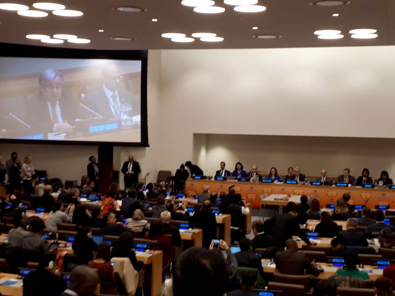 Sesión de apertura de la GSSD2018 con la intervención del Secretario General  de Naciones Unidas, Antonio Guterres.
