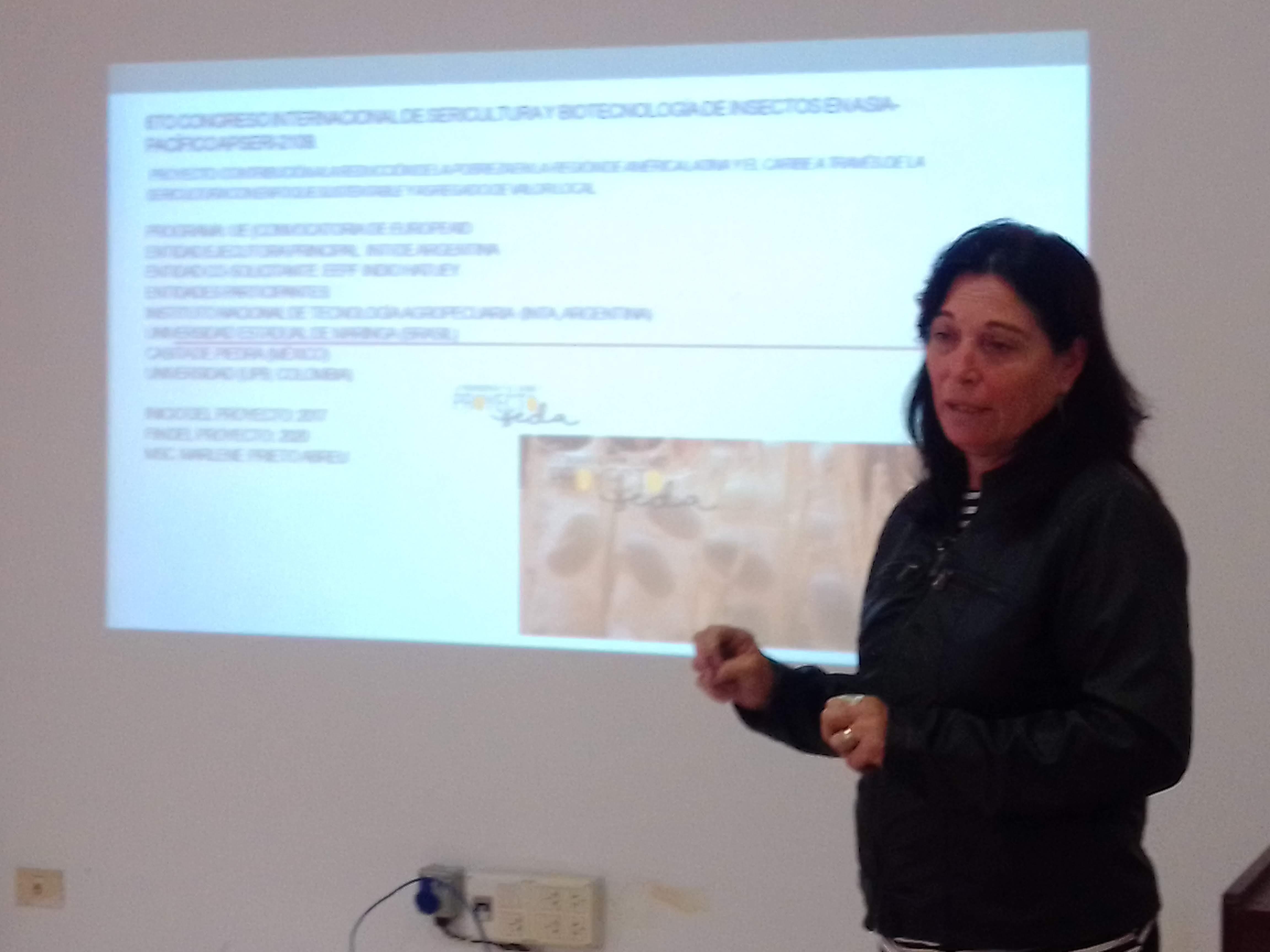 La MsC Marlene Prieto Abreu de la EEPFIH de Cuba habló sobre 6° Congreso Internacional de Sericultura y Biotecnología, APSERI 2019, India.