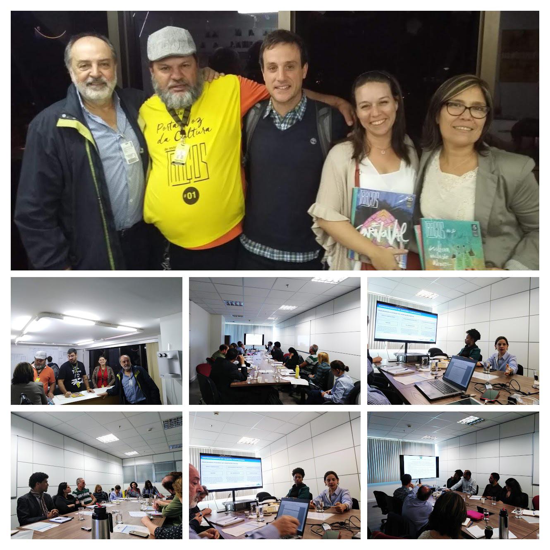 Brasil: Reunión de trabajo en la sede anexo del MDS en Brasilia y entrevista con el equipo de la Revista Tracos.