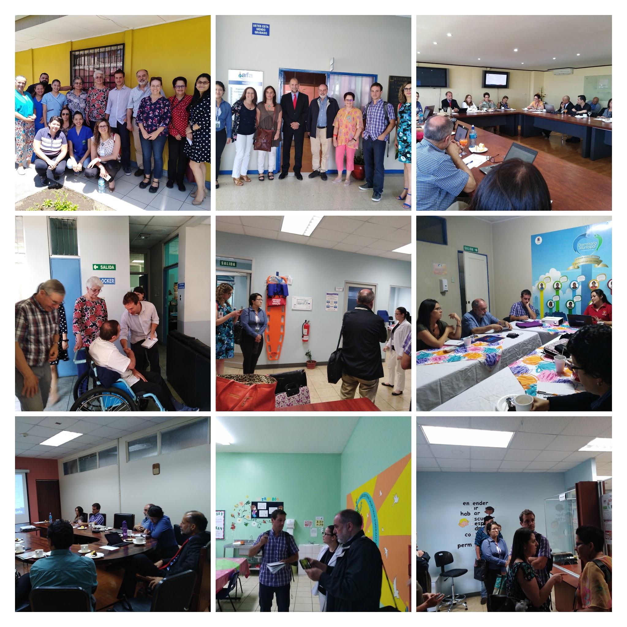 Costa Rica: Reunión de coordinación intersectorial presidida por el Consejo Presidencial Social, reunión de trabajo en IAFA, visita a centros dependientes de IAFA, visita guiada al Centro Dormitorio de la Municipalidad de San José.