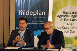El director de la FIIAPP, Pedro Flores, junto al director del proyecto, Miguel Ángel Lombardo