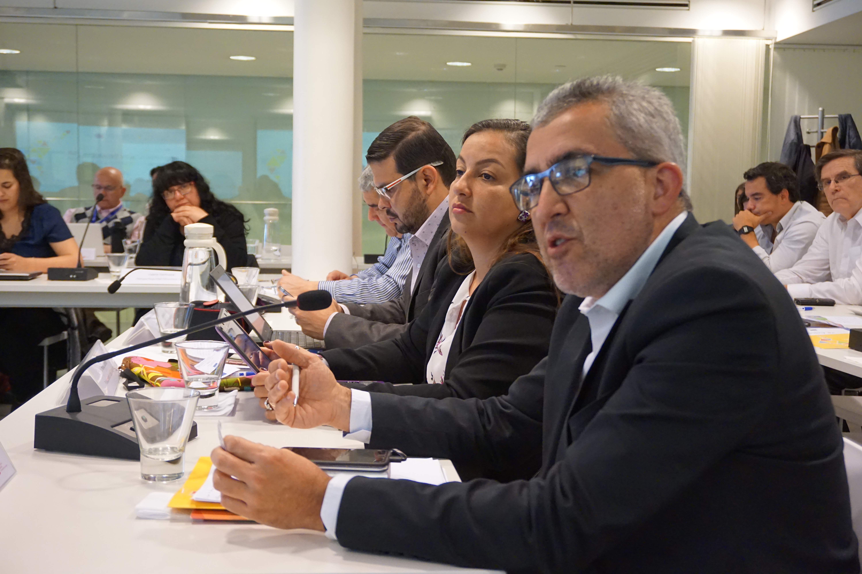 De izquierda a derecha: Jorge Mario González, Jovanna Calderon y el Rafael Segura del proyecto Fortalecimiento de Justicia Restaurativa, Poder Judicial de Costa Rica