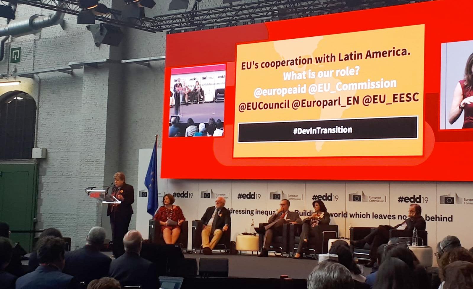 Durante el evento: El rol de la Cooperación Internacional para el Desarrollo: creando nuevas respuestas para el crecimiento inclusivo' en el que se presentó el documento 'Perspectivas económicas para América Latina 2019 – Desarrollo en transición / Latin America Outlook 2019