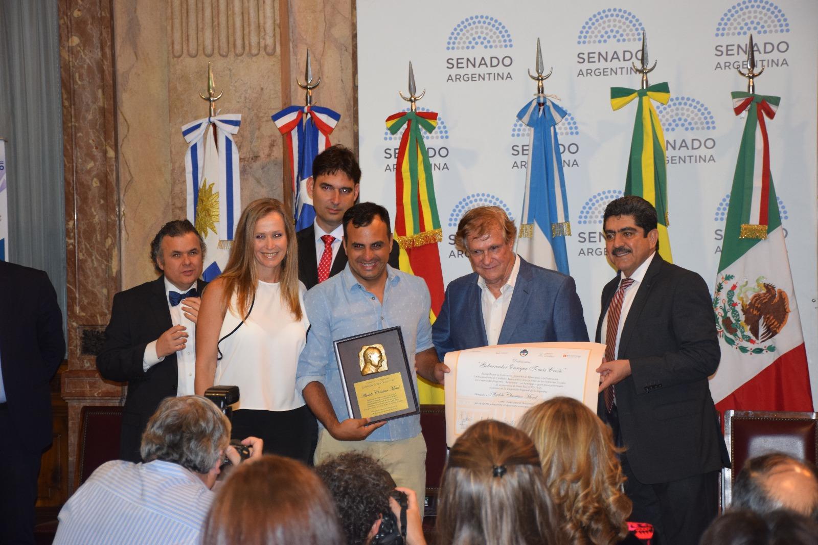Alcalde de Río Branco, Christian Morel en el acto Dr. Tomás Cresto