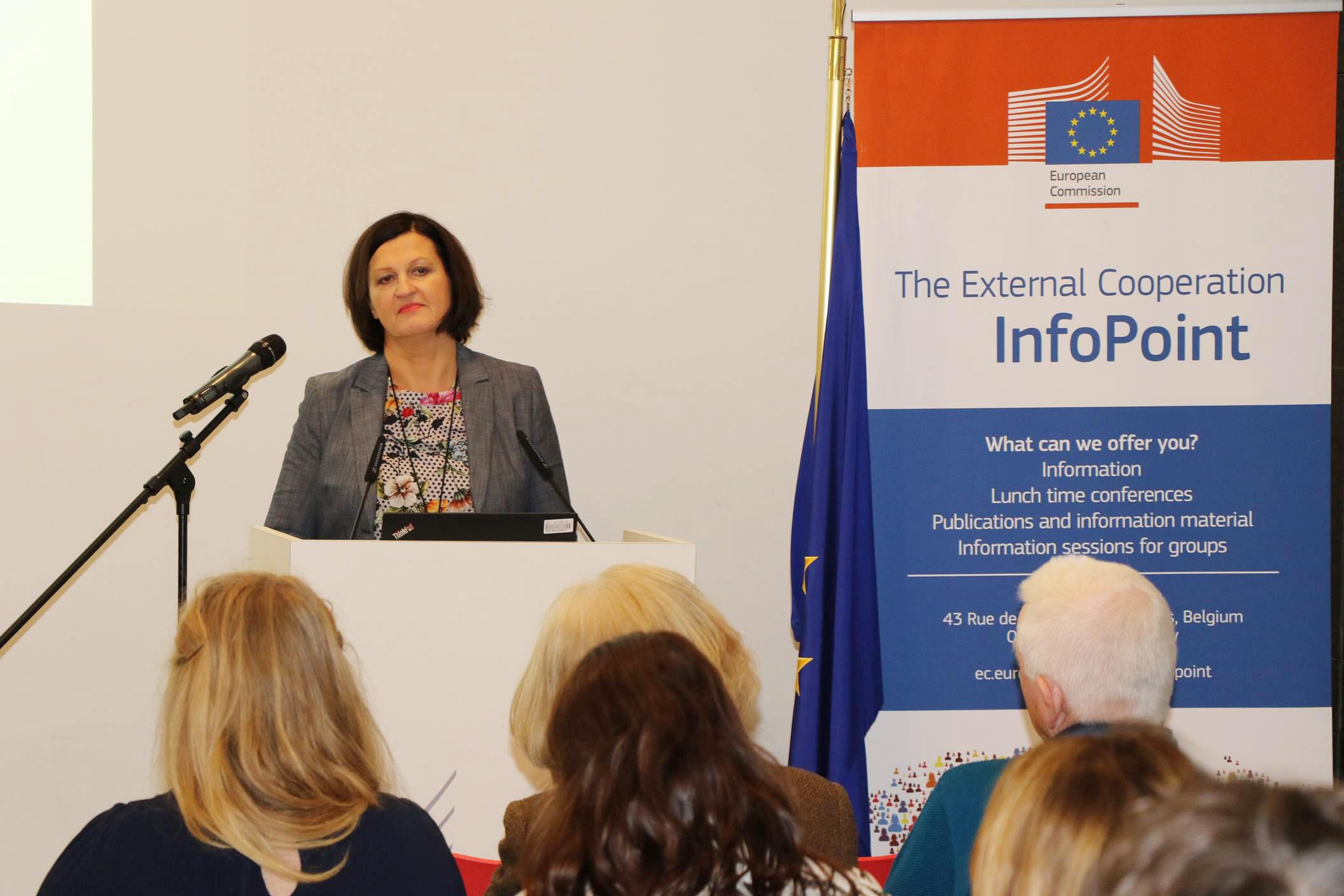 Jolita Butkeviciene, directora para América Latina y el Caribe en la Dirección General de Cooperación Internacional y Desarrollo de la Comisión Europea