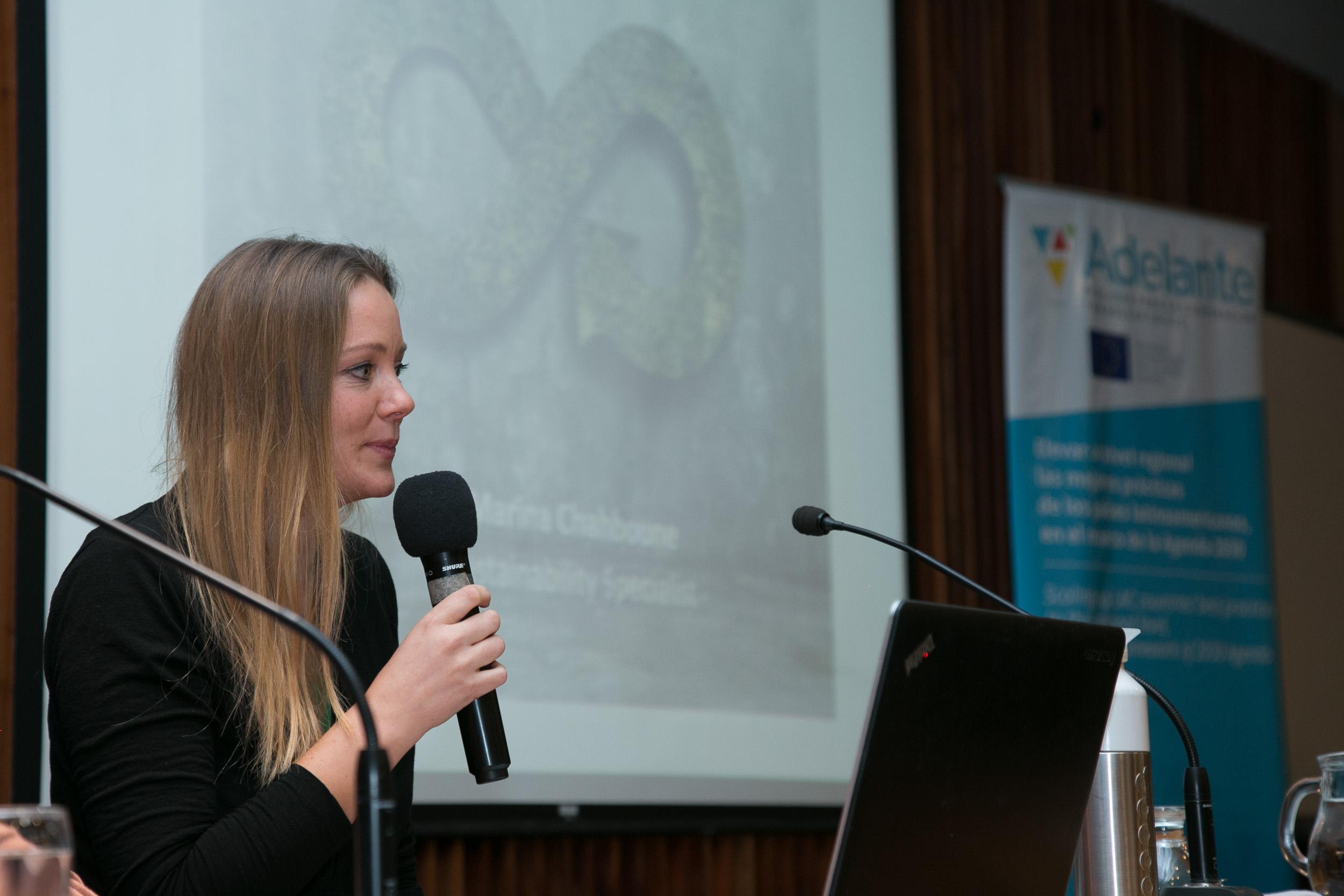 La experta en economía circular Marina Chahboune dictó una conferencia en el INTI.